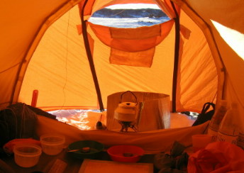 Cooking in a Tent & Shelter